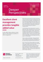 Spence Johnson  - Excellent Client Management Provides Tangible Added Value