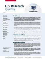 Cornerstone - U.S. Research Quarterly - Economic and Real Estate Update and Outlook - July 2015