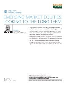 Legg Mason - Emerging market equities: Looking to the long term