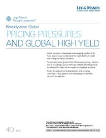 Legg Mason - Pricing pressures and global high yield