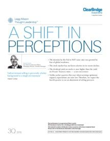 Legg Mason - Low oil prices, low interest rates — A shift in perceptions