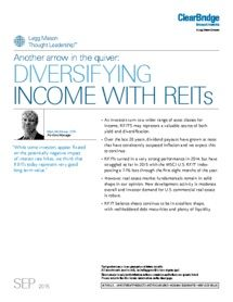 Legg Mason - Another arrow in the quiver: Diversifying income with REITs