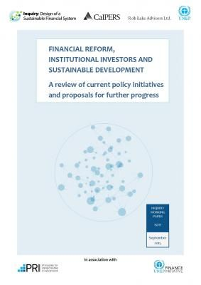 Financial Reform, Institutional Investors and Sustainable Development