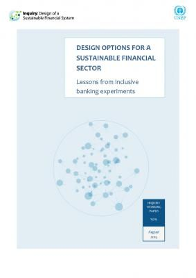 Design Options for a Sustainable Financial Sector
