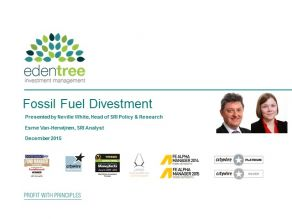 EdenTree - Fossil Fuel Divestment