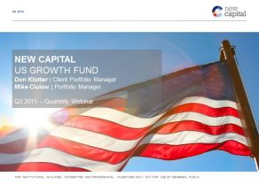 New Capital - US Growth Fund update Q3